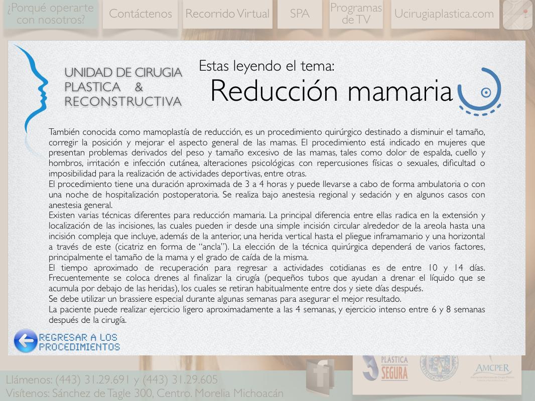 reduccion mamaria